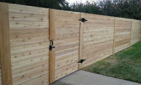$2,799 for Hand-Built Horizontal Cedar Privacy...