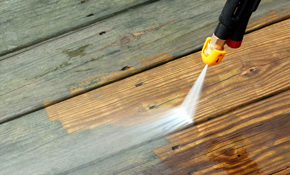 $499 Deck Pressure Washing with Stain/Sealer...