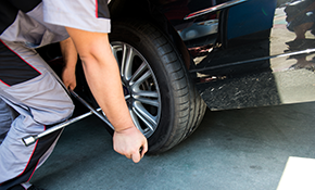 $24.95 Tire Balance and Rotation for a Car