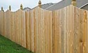 $3,200 Scalloped Cedar Picket Privacy Fencing