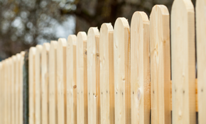 $2,600 Pine Picket Fencing