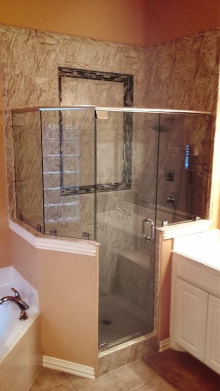 Custom Neo Angle Shower - Matt