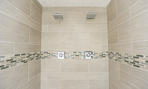 $5,600 for a Porcelain Tile Shower Installation