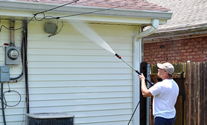 $216 for Home Exterior Pressure Washing of...