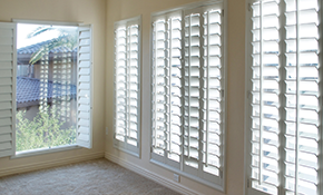 $250 for $500 Credit Toward Plantation Shutters