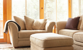 $149 for Upholstery Cleaning of a Sofa and...