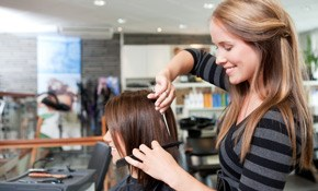 $159 Women's Highlighting and Haircut with...