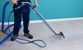 $79 for 4 Rooms of Carpet Cleaning, Deodorizing,...