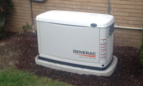 $8,195 Installation of a Home Generator