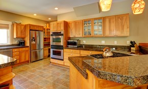 $99 for Kitchen Cabinet Color Refinishing...