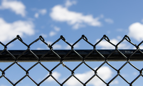 $1,299 for Black Vinyl Chain Link Fence with...