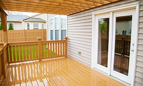 $580 for $1,000 Toward Deck Installation