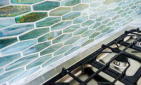 $1,299 for a New Ceramic Tile Backsplash,...