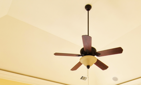 $150 for Installation of Two Ceiling Fans