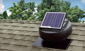 $449 for Solar Powered Attic Fan, Installation...