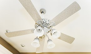 $79 Ceiling Fan or Light Fixture Installation