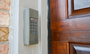 $120 for Keypad Installation and Garage Door...