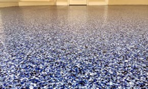 $1,700 Garage Floor Platinum Flake Finishing...