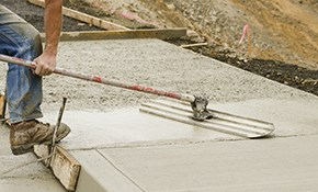 $800 for $1000 Credit Toward Concrete Pouring...