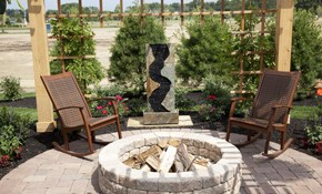 $1150 for a Natural Boulder or CMU Fire Pit