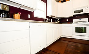 $495 for Kitchen Cabinet Painting or Staining