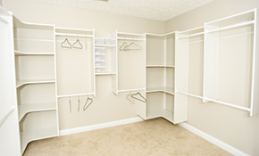 $500 for 7 Foot Reach-In Closet Installation
