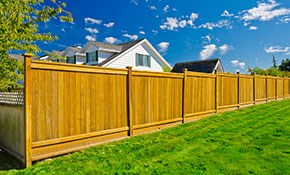 $1,449 for a Cedar Privacy Fence (up to 50...