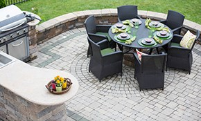 $384 Deposit for a Paver Stone Patio or Walkway...