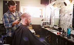 $36 for Men's Haircut with Peppermint Oil...