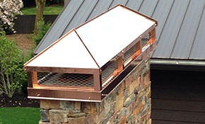 $999 for Custom Copper Chimney Cap