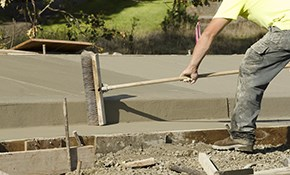 $450 for $500 Credit Toward Concrete Pouring...