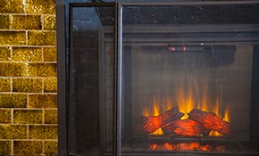 $114 for a Chimney Sweeping (Open Faced,...