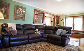 $250 Sectional and Ottoman Cleaning