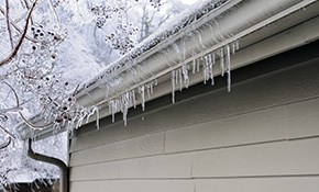 $549 for Winter Gutter Cleaning, Ice Dam...