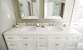 $579 for New Granite Bath Vanity and Sink...