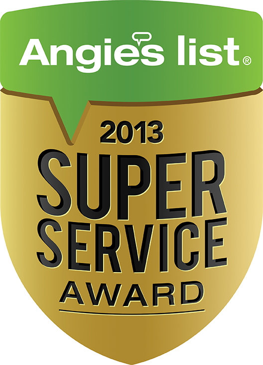 2013 Angie's List Super Service Award Badge